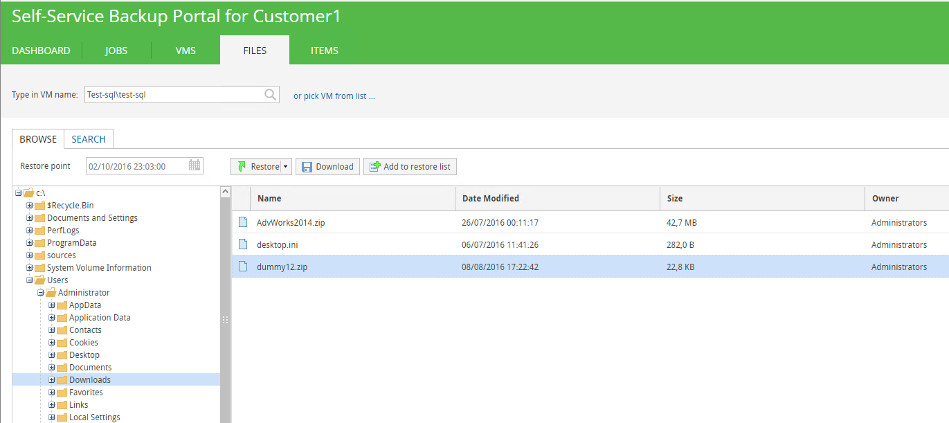 Virtual Sprout Veeam VCloud Director Portal